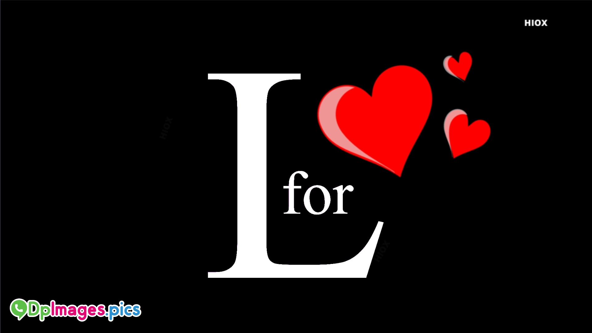L For Love Dp Image