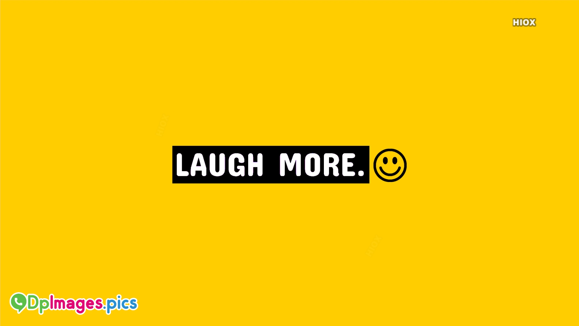 Laugh More Status In Yellow Background