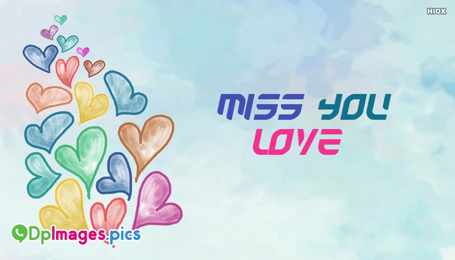 Miss You Love Image