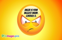 Anger Is Your Biggest Enemy. Control
