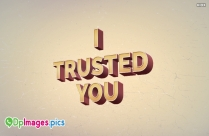 I Trusted You