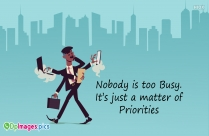 Nobody Is Busy