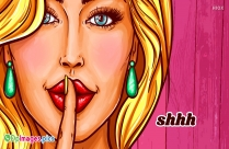 Shhh Finger Silence Dp Image for Whatsapp