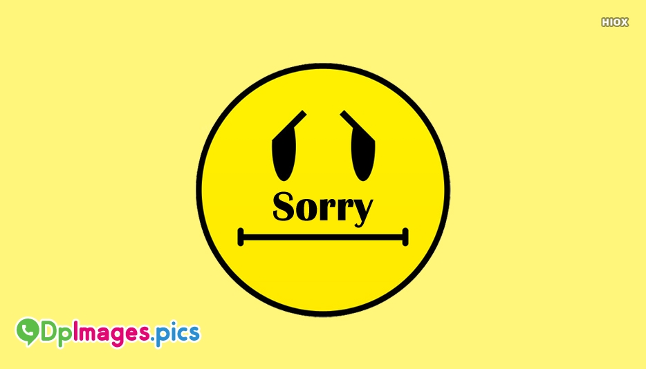 Whatsapp Dp For Sorry